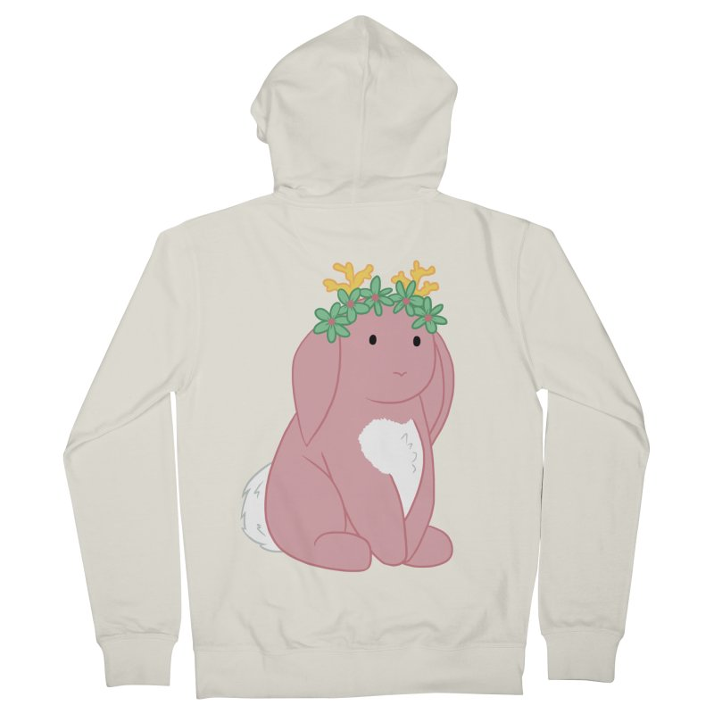 Pink Spring Festival Jackalope Men's French Terry Zip-Up Hoody by Rachel Yelding | enchantedviolin