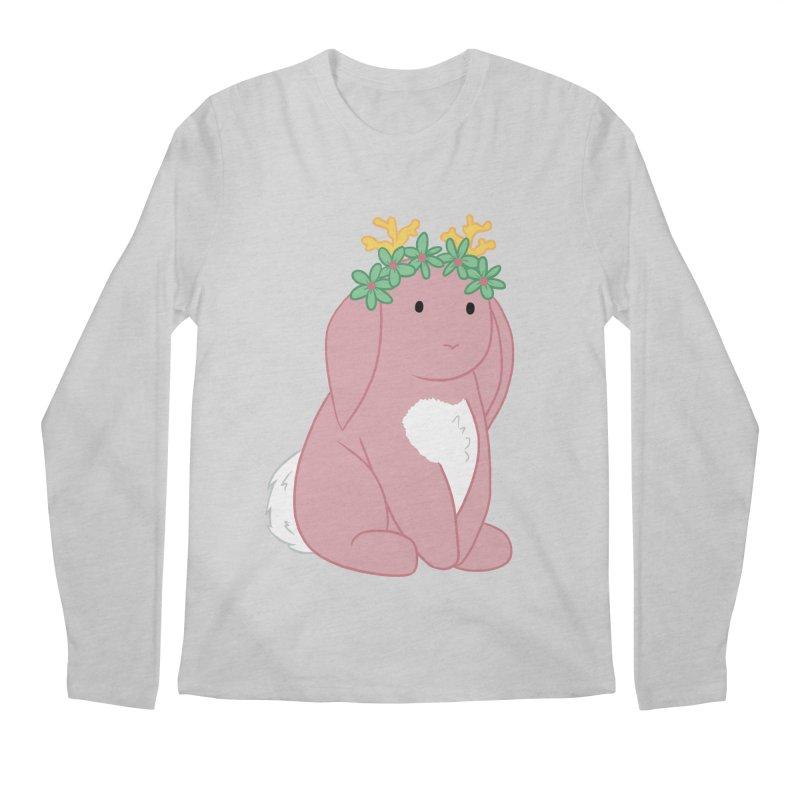 Pink Spring Festival Jackalope Men's Regular Longsleeve T-Shirt by Rachel Yelding | enchantedviolin