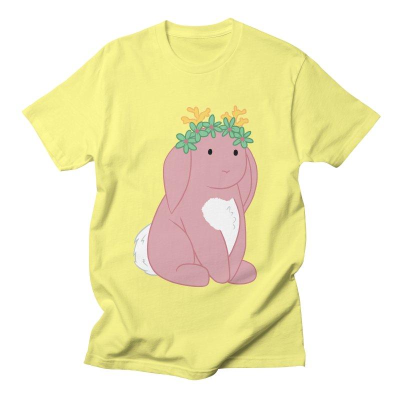 Pink Spring Festival Jackalope Men's Regular T-Shirt by Rachel Yelding | enchantedviolin