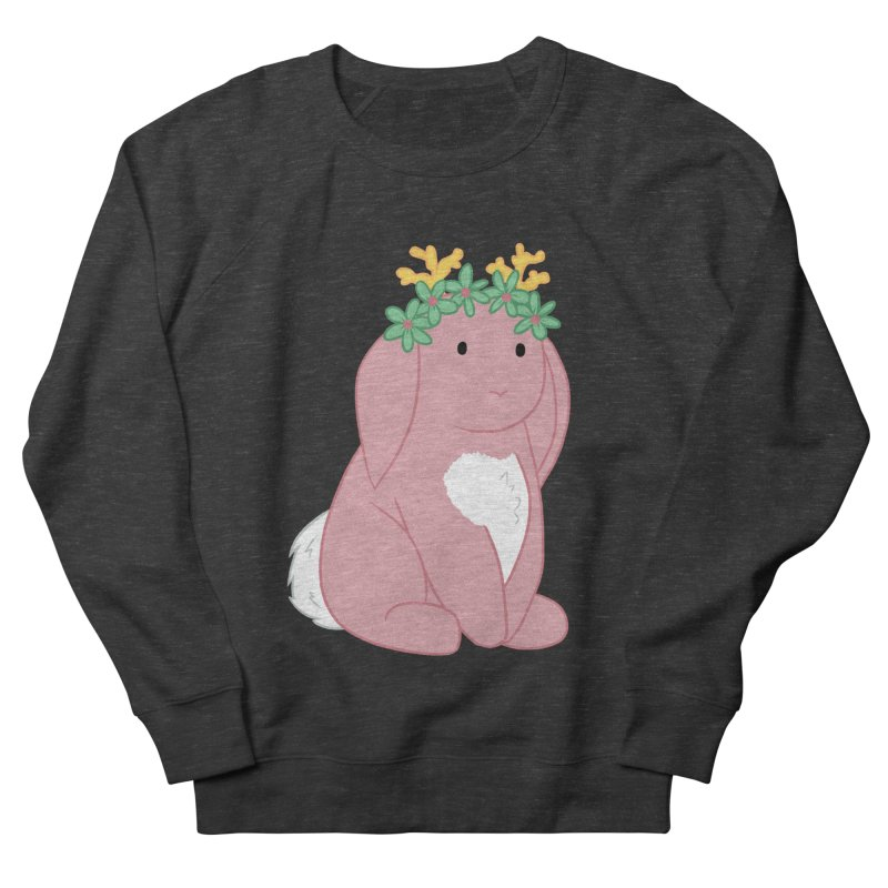 Pink Spring Festival Jackalope Women's French Terry Sweatshirt by Rachel Yelding | enchantedviolin