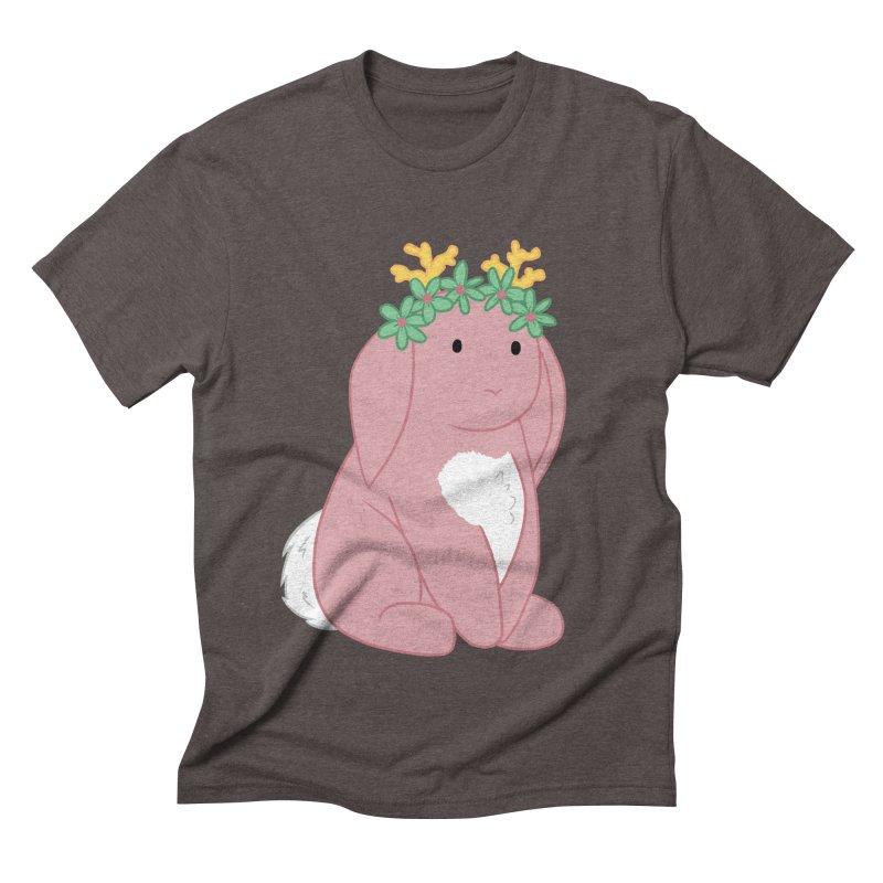 Pink Spring Festival Jackalope Men's Triblend T-Shirt by Rachel Yelding | enchantedviolin