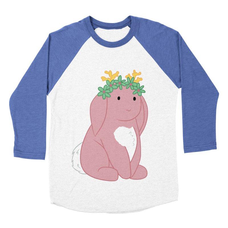 Pink Spring Festival Jackalope Women's Baseball Triblend Longsleeve T-Shirt by Rachel Yelding | enchantedviolin