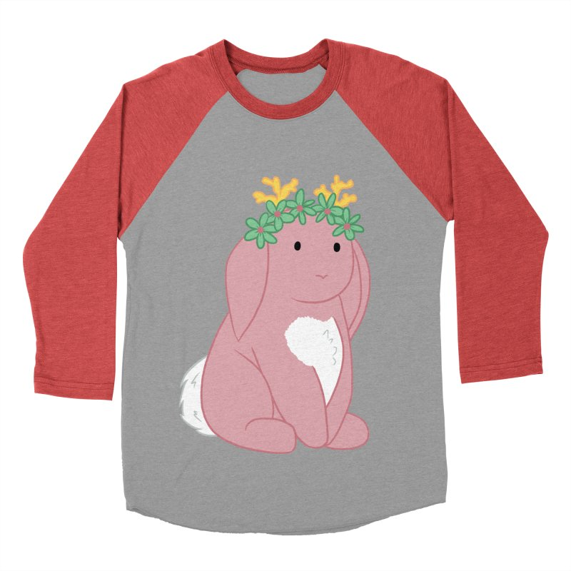 Pink Spring Festival Jackalope Women's Baseball Triblend Longsleeve T-Shirt by Rachel Yelding   enchantedviolin
