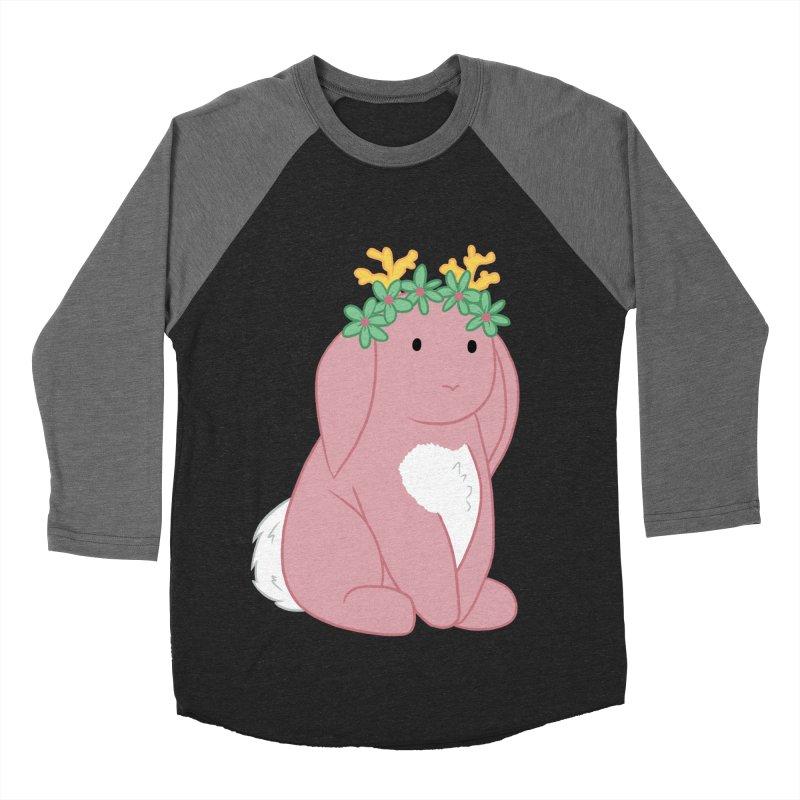 Pink Spring Festival Jackalope Men's Baseball Triblend Longsleeve T-Shirt by Rachel Yelding | enchantedviolin