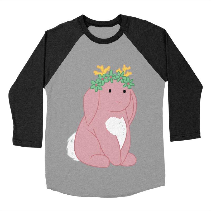 Pink Spring Festival Jackalope Men's Baseball Triblend T-Shirt by Rachel Yelding | enchantedviolin