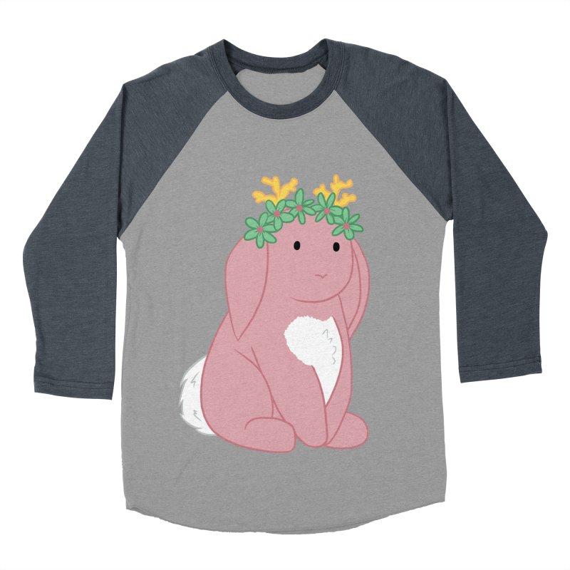 Pink Spring Festival Jackalope Men's Baseball Triblend Longsleeve T-Shirt by Rachel Yelding   enchantedviolin