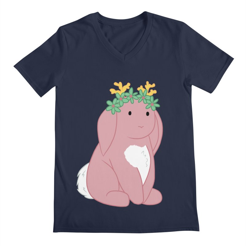 Pink Spring Festival Jackalope Men's Regular V-Neck by Rachel Yelding | enchantedviolin
