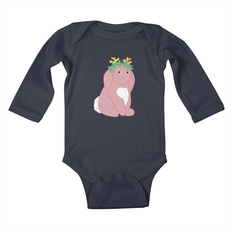 Pink Spring Festival Jackalope Kids Baby Longsleeve Bodysuit by Rachel Yelding   enchantedviolin