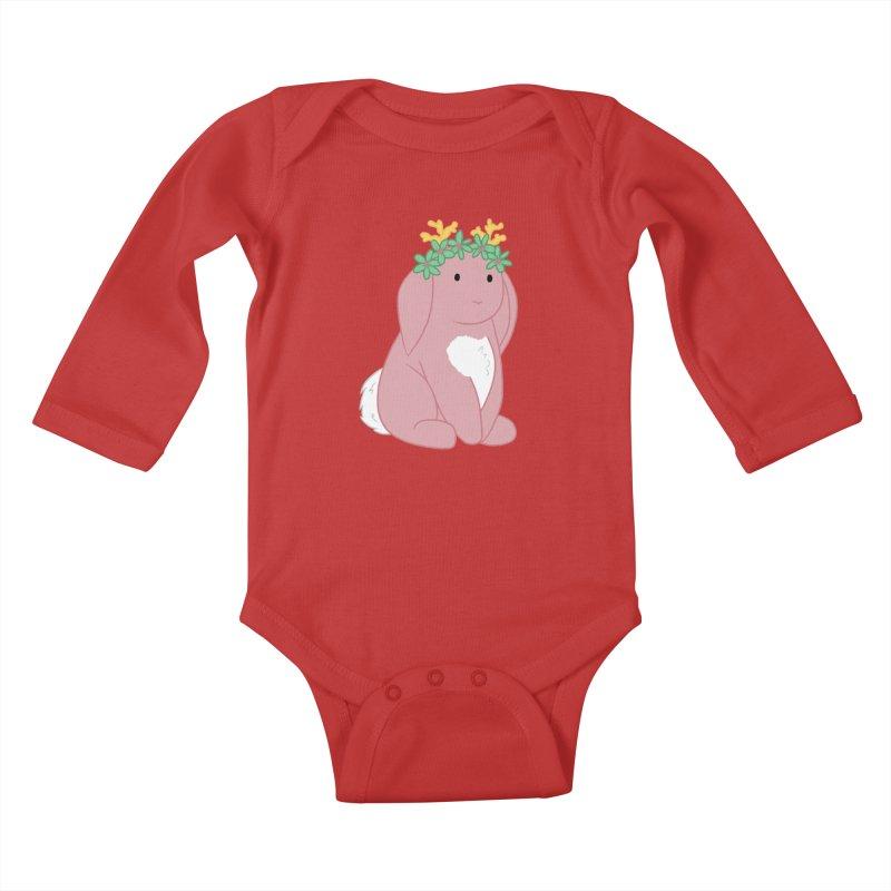 Pink Spring Festival Jackalope Kids Baby Longsleeve Bodysuit by Rachel Yelding | enchantedviolin