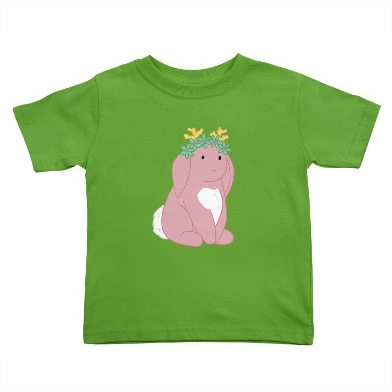 Pink Spring Festival Jackalope Kids Toddler T-Shirt by Rachel Yelding | enchantedviolin