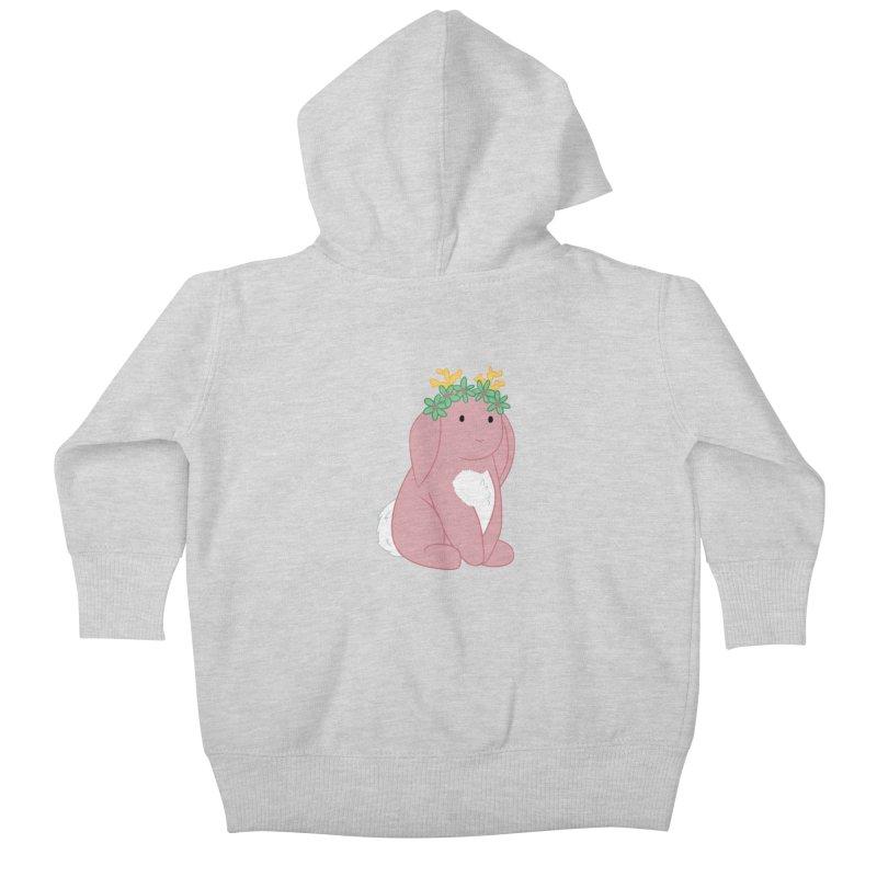 Pink Spring Festival Jackalope Kids Baby Zip-Up Hoody by Rachel Yelding | enchantedviolin