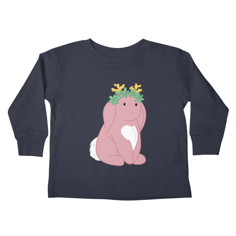 Pink Spring Festival Jackalope Kids Toddler Longsleeve T-Shirt by Rachel Yelding   enchantedviolin
