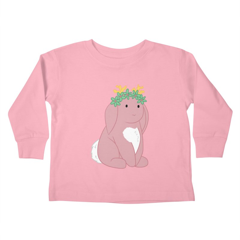 Pink Spring Festival Jackalope in Kids Toddler Longsleeve T-Shirt Light Pink by Rachel Yelding | enchantedviolin