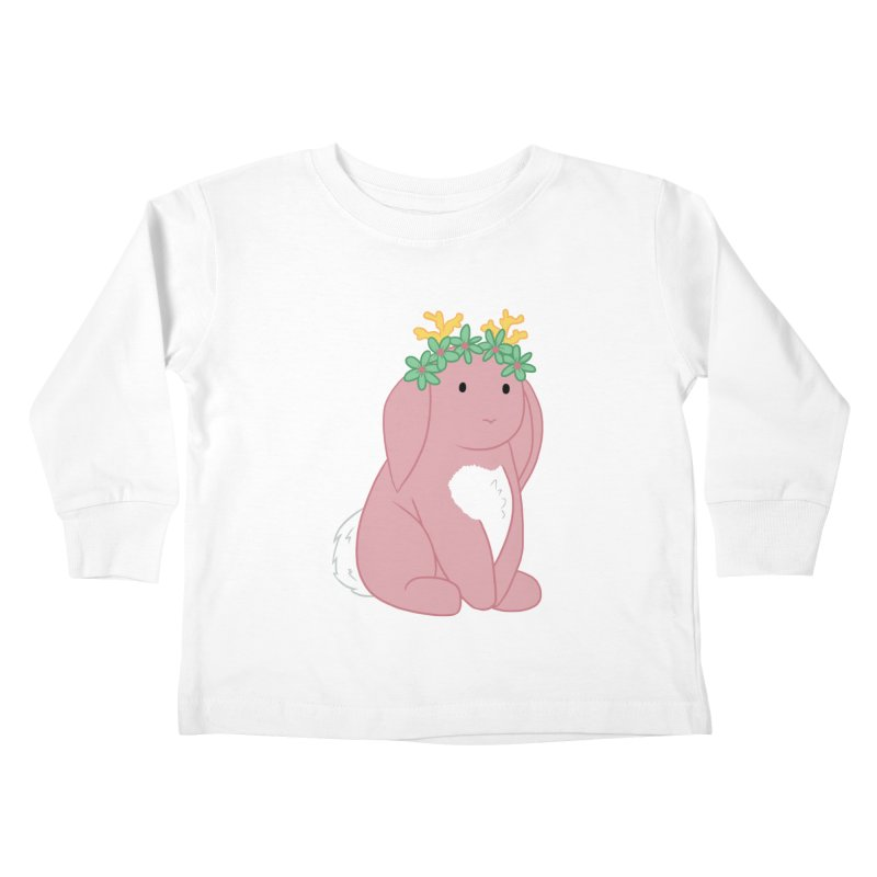 Pink Spring Festival Jackalope Kids Toddler Longsleeve T-Shirt by Rachel Yelding | enchantedviolin