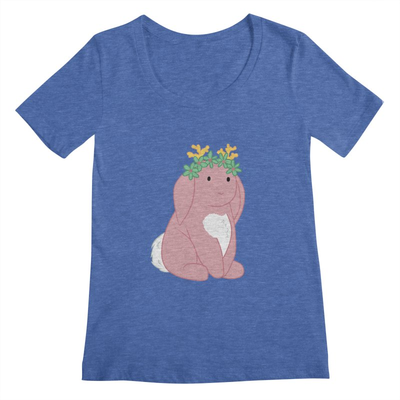 Pink Spring Festival Jackalope Women's Regular Scoop Neck by Rachel Yelding | enchantedviolin