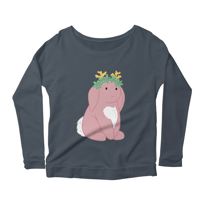 Pink Spring Festival Jackalope Women's Scoop Neck Longsleeve T-Shirt by Rachel Yelding | enchantedviolin