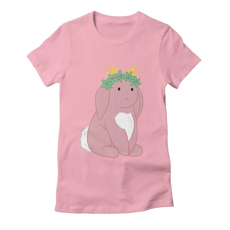 Pink Spring Festival Jackalope Women's Fitted T-Shirt by Rachel Yelding | enchantedviolin