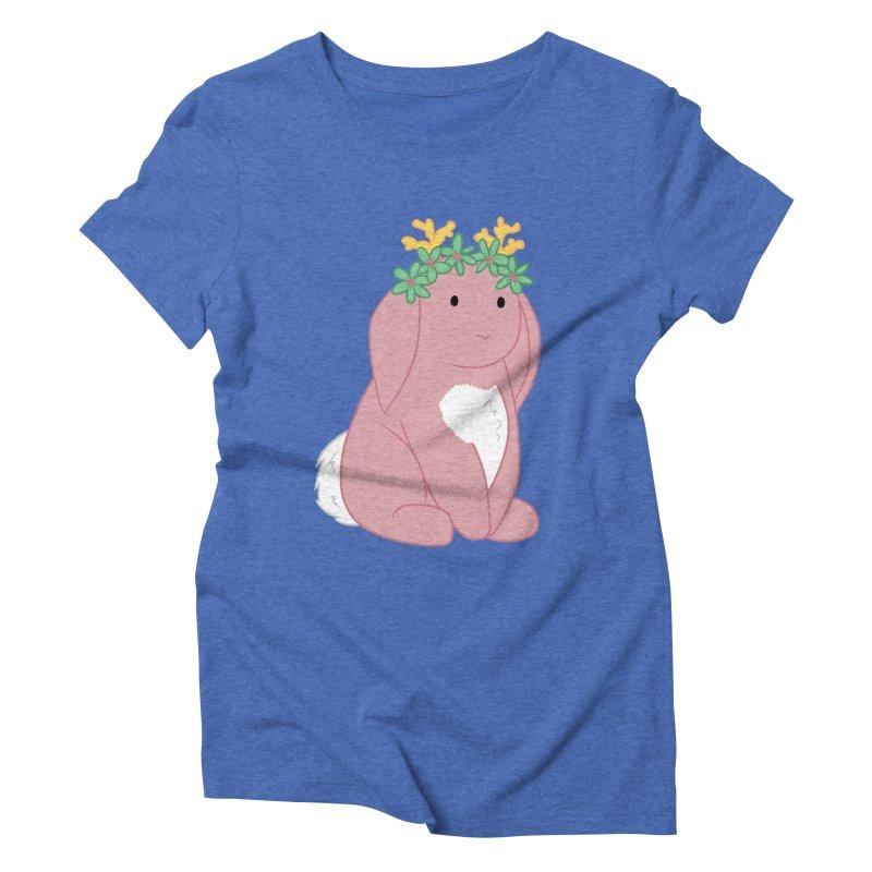 Pink Spring Festival Jackalope Women's Triblend T-Shirt by Rachel Yelding | enchantedviolin