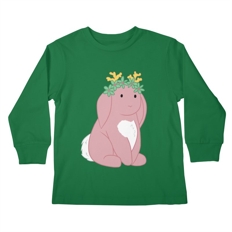 Pink Spring Festival Jackalope Kids Longsleeve T-Shirt by Rachel Yelding | enchantedviolin