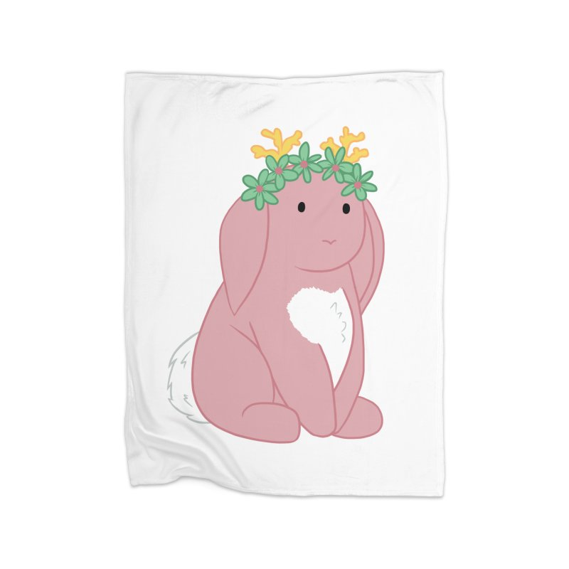 Pink Spring Festival Jackalope Home Fleece Blanket Blanket by Rachel Yelding | enchantedviolin