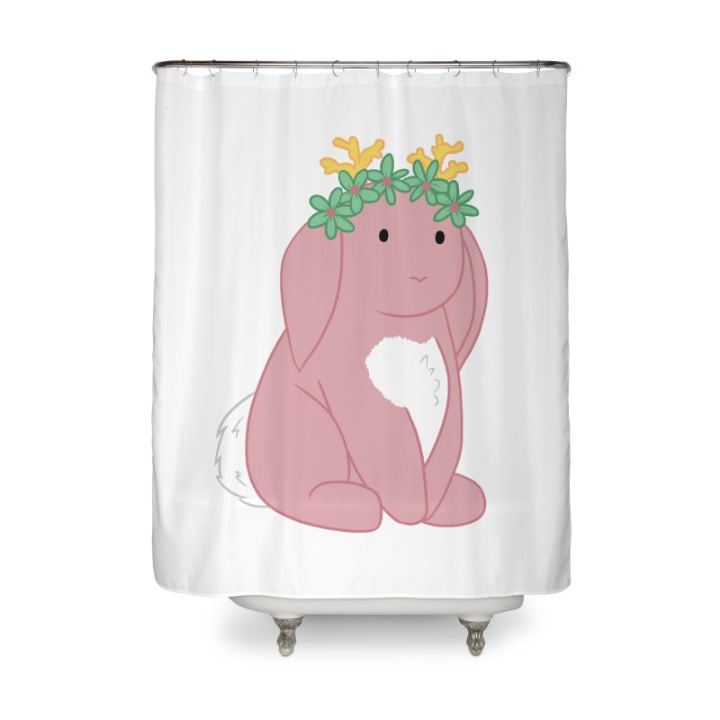 Pink Spring Festival Jackalope Home Shower Curtain by Rachel Yelding | enchantedviolin