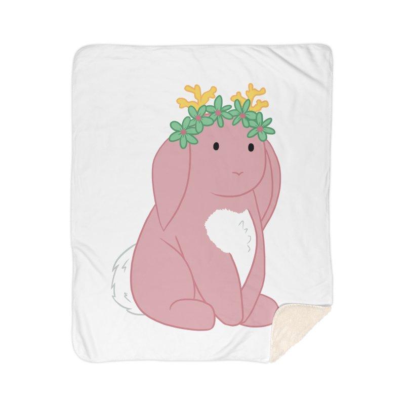 Pink Spring Festival Jackalope Home Sherpa Blanket Blanket by Rachel Yelding | enchantedviolin