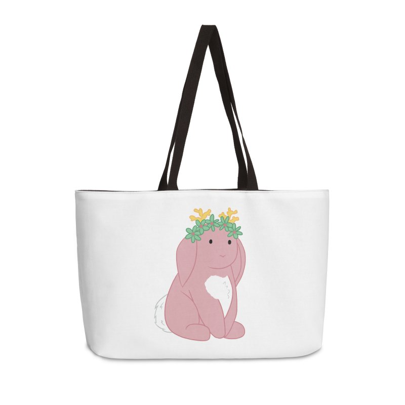 Pink Spring Festival Jackalope Accessories Weekender Bag Bag by Rachel Yelding | enchantedviolin
