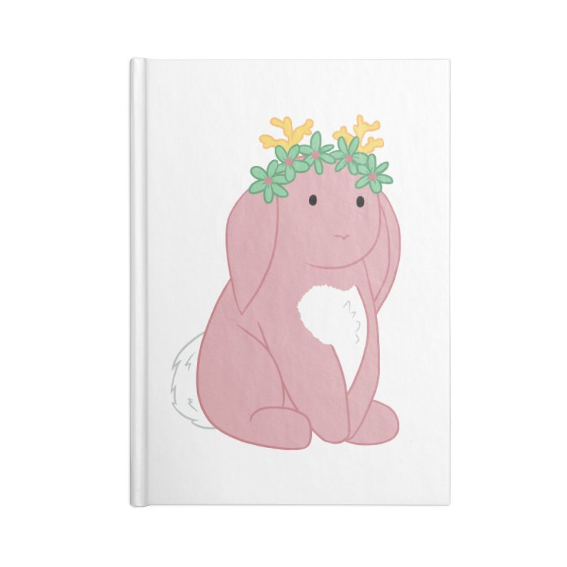 Pink Spring Festival Jackalope Accessories Lined Journal Notebook by Rachel Yelding | enchantedviolin