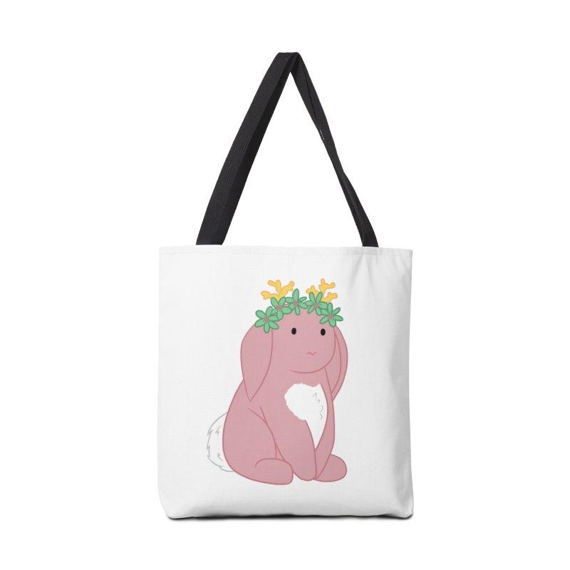 Pink Spring Festival Jackalope Accessories Tote Bag Bag by Rachel Yelding | enchantedviolin