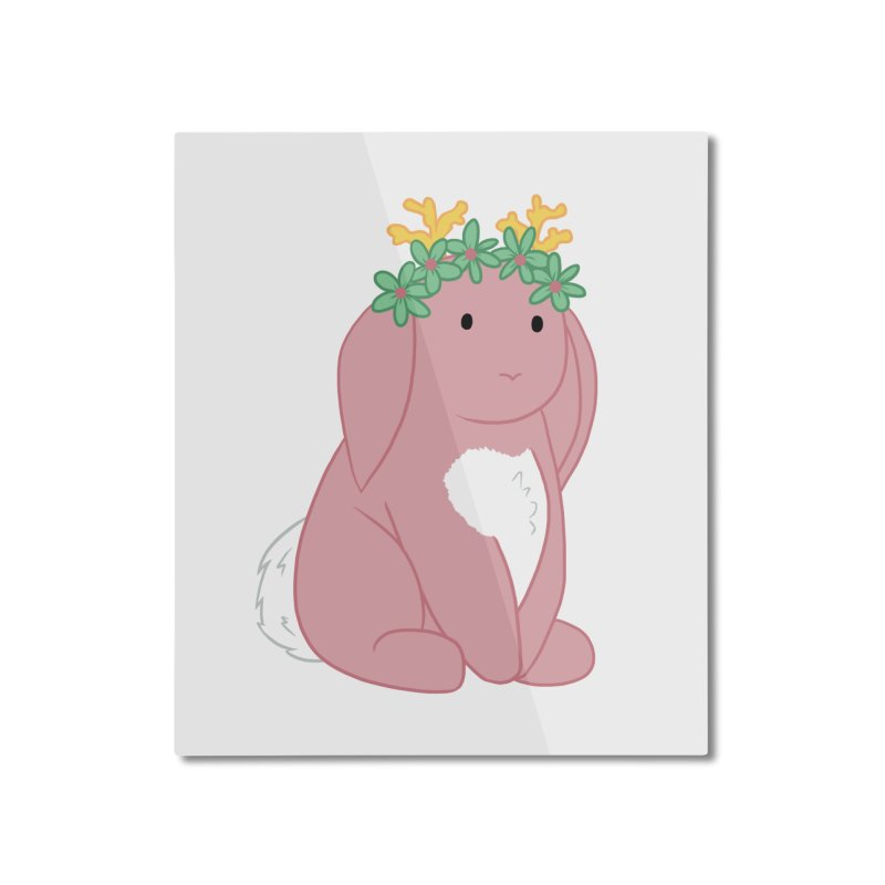 Pink Spring Festival Jackalope Home Mounted Aluminum Print by Rachel Yelding | enchantedviolin