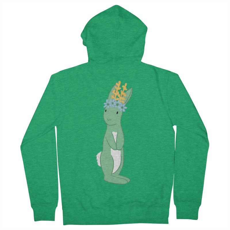 Green Spring Festival Jackalope Women's French Terry Zip-Up Hoody by Rachel Yelding | enchantedviolin