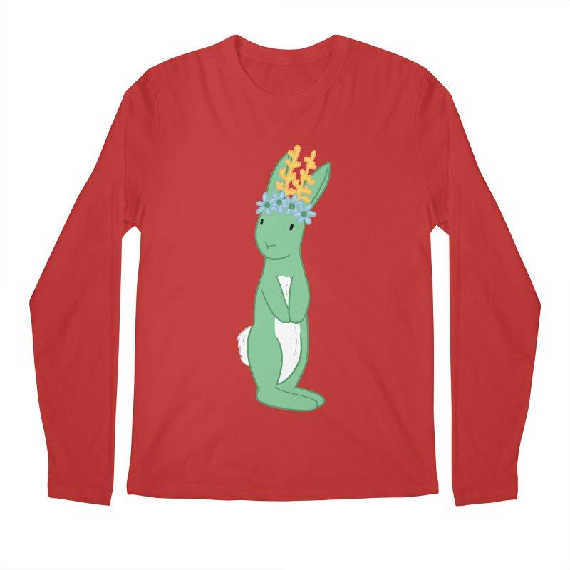 Green Spring Festival Jackalope Men's Longsleeve T-Shirt by Rachel Yelding | enchantedviolin