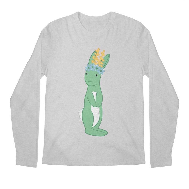 Green Spring Festival Jackalope Men's Regular Longsleeve T-Shirt by Rachel Yelding | enchantedviolin