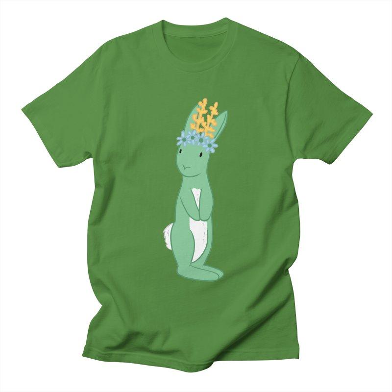 Green Spring Festival Jackalope Men's T-Shirt by Rachel Yelding | enchantedviolin