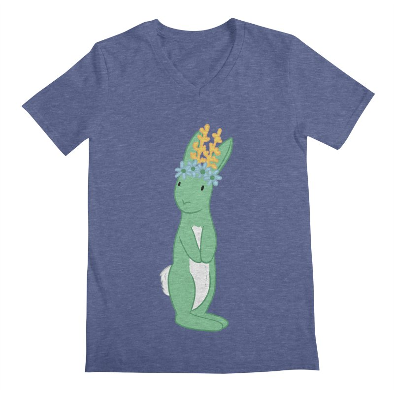 Green Spring Festival Jackalope Men's Regular V-Neck by Rachel Yelding | enchantedviolin