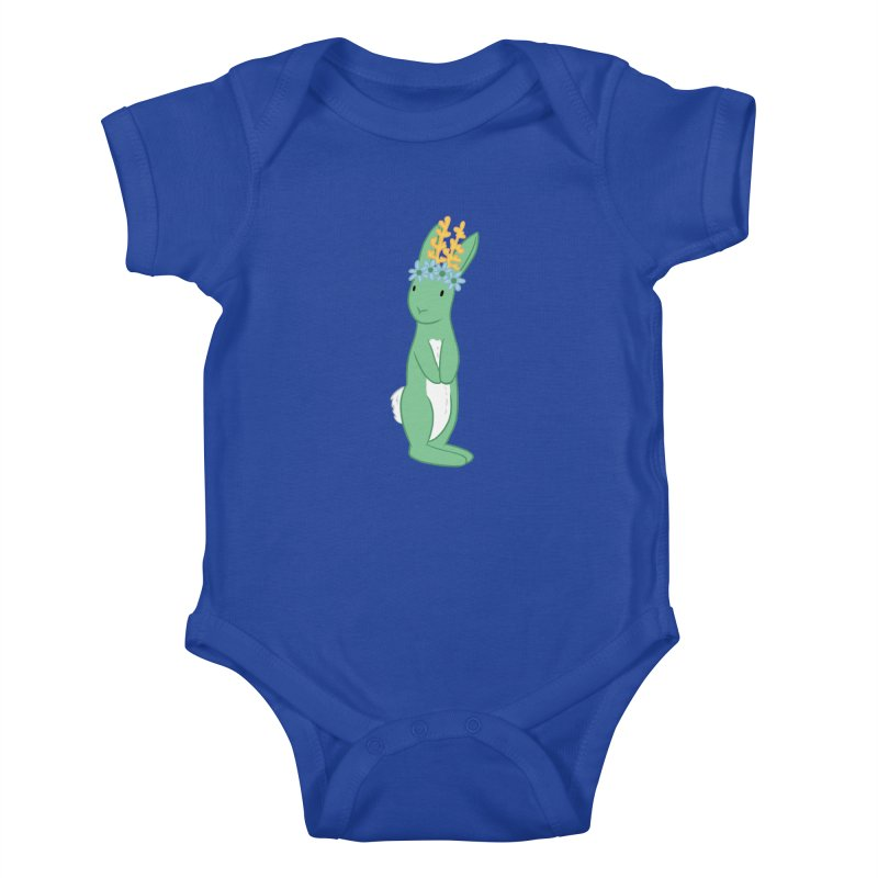 Green Spring Festival Jackalope Kids Baby Bodysuit by Rachel Yelding   enchantedviolin