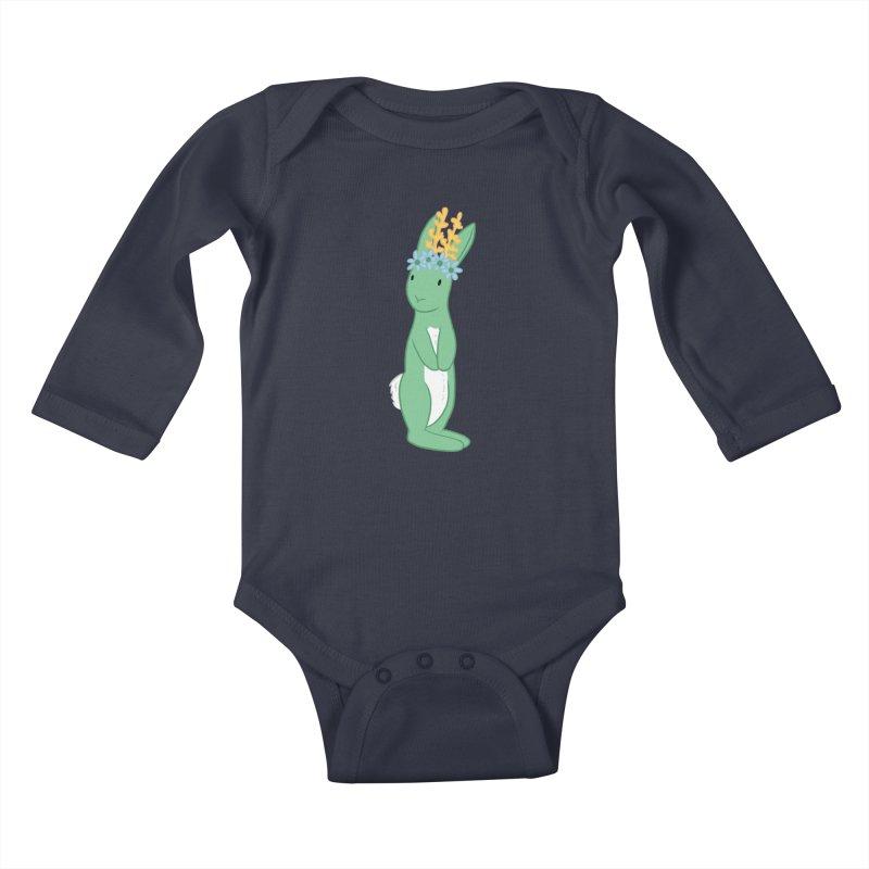 Green Spring Festival Jackalope Kids Baby Longsleeve Bodysuit by Rachel Yelding | enchantedviolin