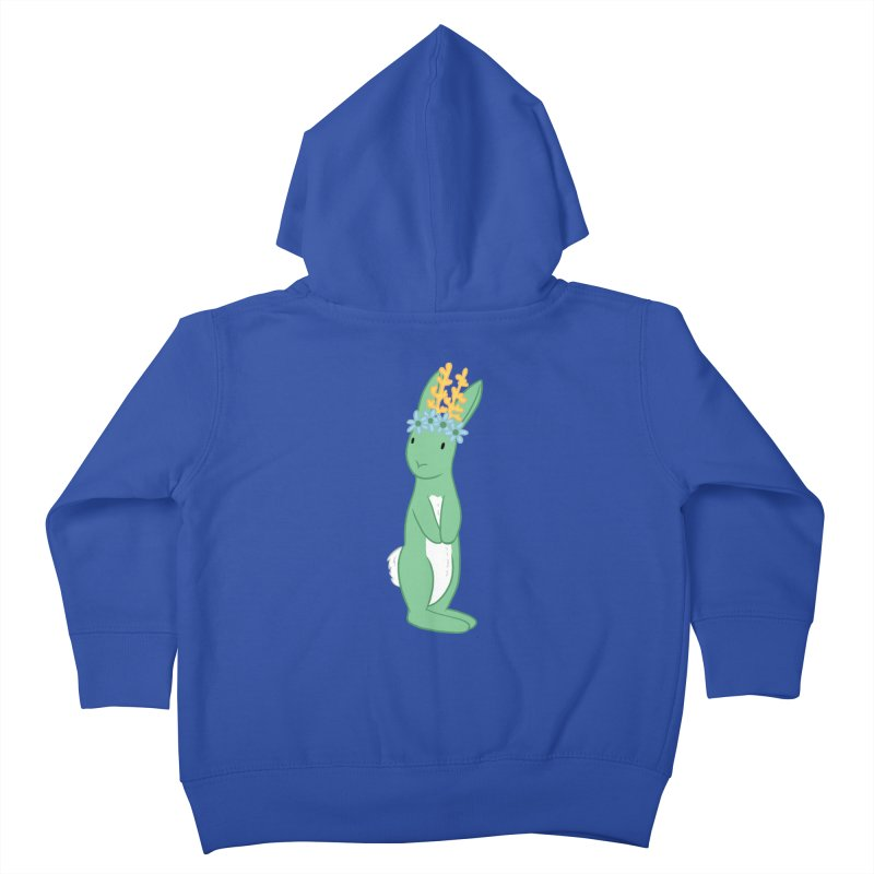 Green Spring Festival Jackalope Kids Toddler Zip-Up Hoody by Rachel Yelding | enchantedviolin
