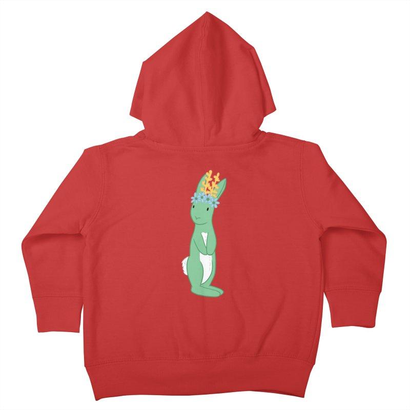 Green Spring Festival Jackalope Kids Toddler Zip-Up Hoody by Rachel Yelding | enchantedviolin