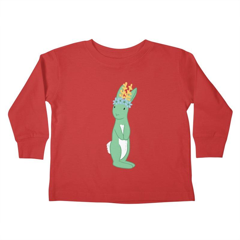 Green Spring Festival Jackalope Kids Toddler Longsleeve T-Shirt by Rachel Yelding | enchantedviolin
