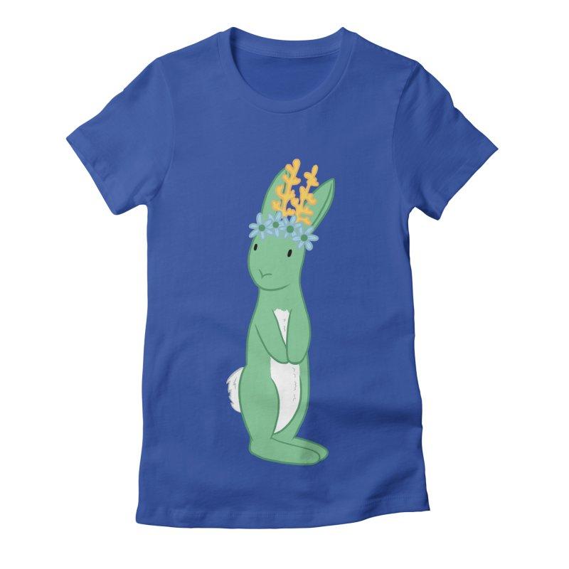 Green Spring Festival Jackalope Women's Fitted T-Shirt by Rachel Yelding | enchantedviolin
