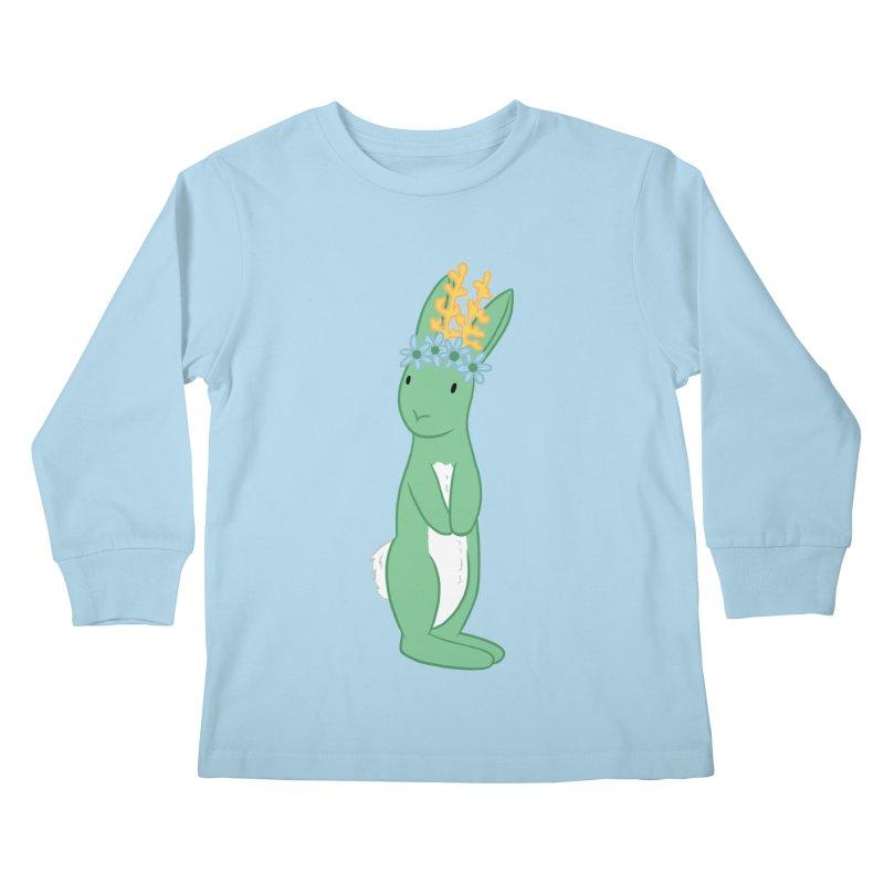 Green Spring Festival Jackalope Kids Longsleeve T-Shirt by Rachel Yelding | enchantedviolin