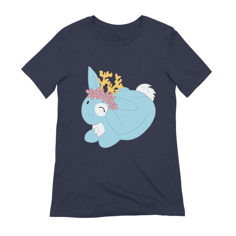 Blue Spring Festival Jackalope Women's Extra Soft T-Shirt by Rachel Yelding | enchantedviolin