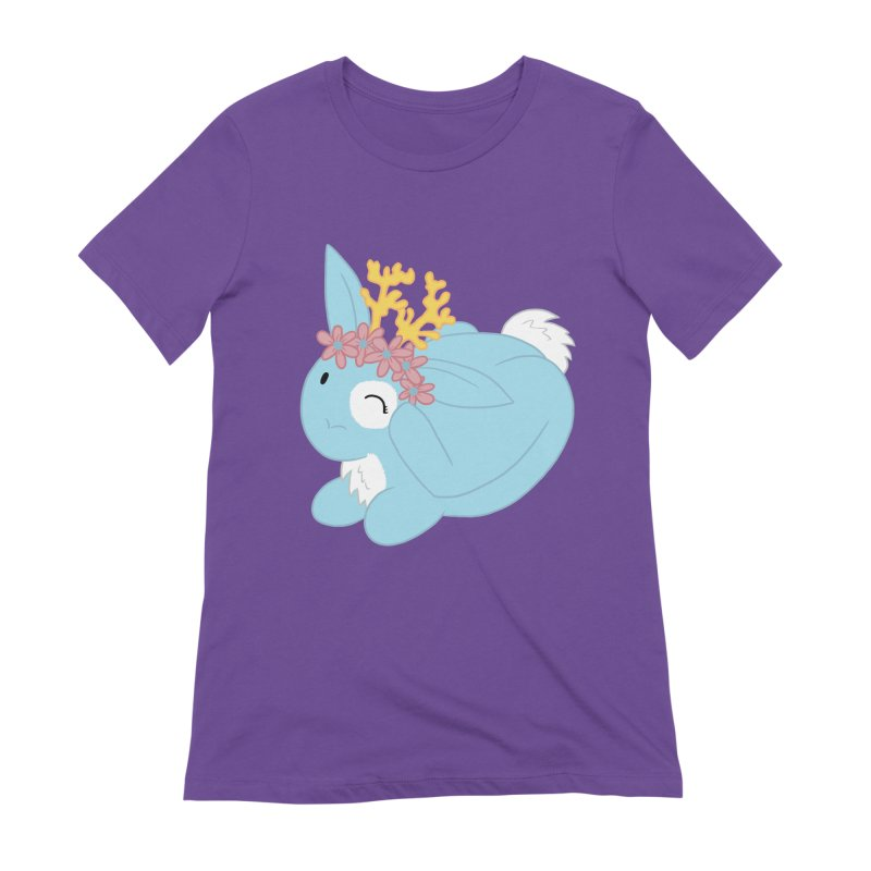 Blue Spring Festival Jackalope Women's Extra Soft T-Shirt by Rachel Yelding | enchantedviolin