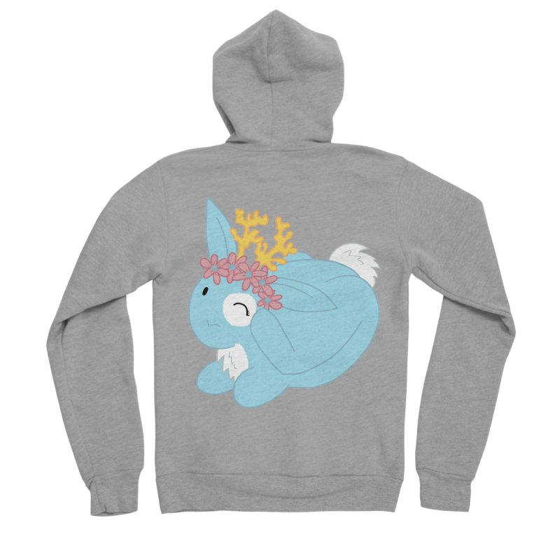 Blue Spring Festival Jackalope Women's Sponge Fleece Zip-Up Hoody by Rachel Yelding | enchantedviolin