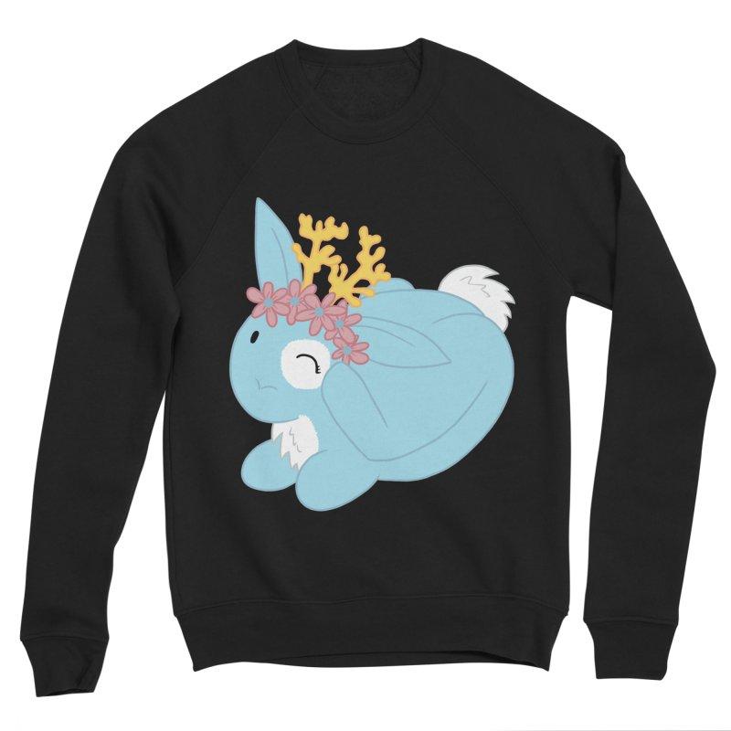Blue Spring Festival Jackalope Women's Sponge Fleece Sweatshirt by Rachel Yelding | enchantedviolin