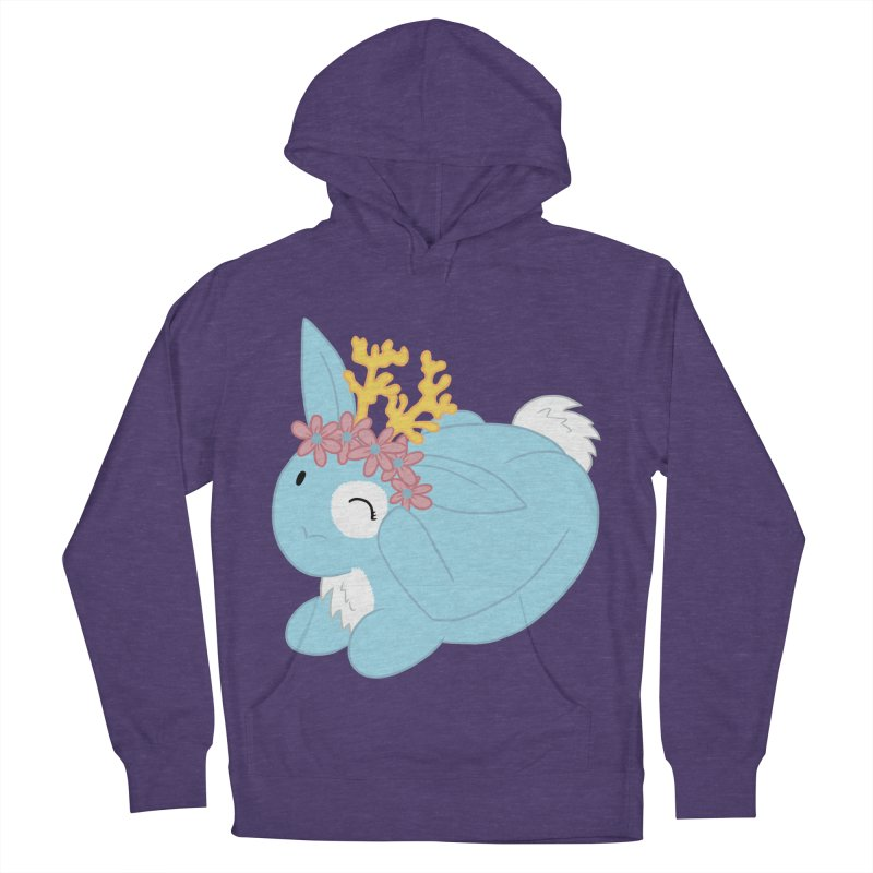 Blue Spring Festival Jackalope Women's French Terry Pullover Hoody by Rachel Yelding | enchantedviolin