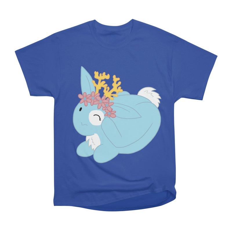 Blue Spring Festival Jackalope Men's Heavyweight T-Shirt by Rachel Yelding | enchantedviolin