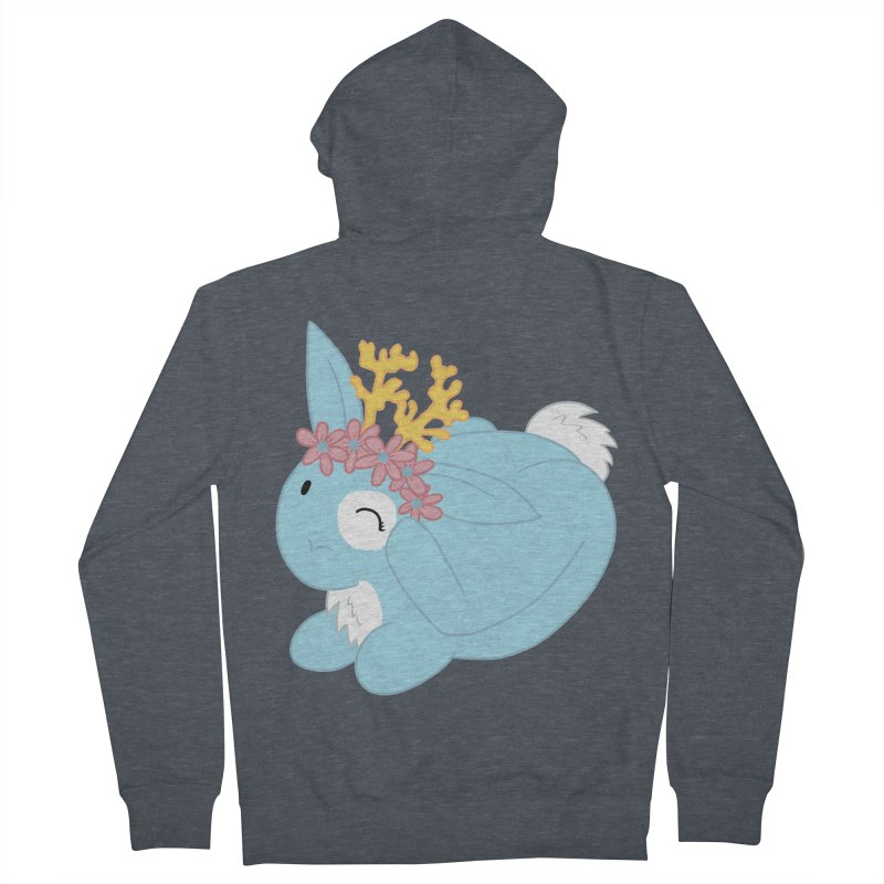 Blue Spring Festival Jackalope Women's Zip-Up Hoody by Rachel Yelding | enchantedviolin