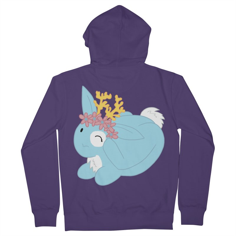 Blue Spring Festival Jackalope Women's French Terry Zip-Up Hoody by Rachel Yelding | enchantedviolin